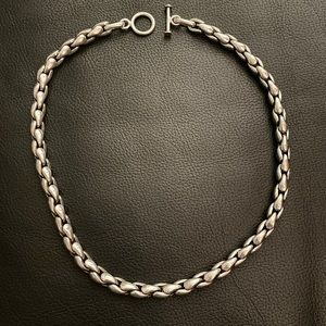 .925 Sterling silver link Heavy rope necklace wow!